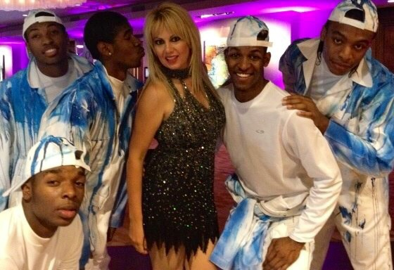 DJ London with Hip Hop Dancers