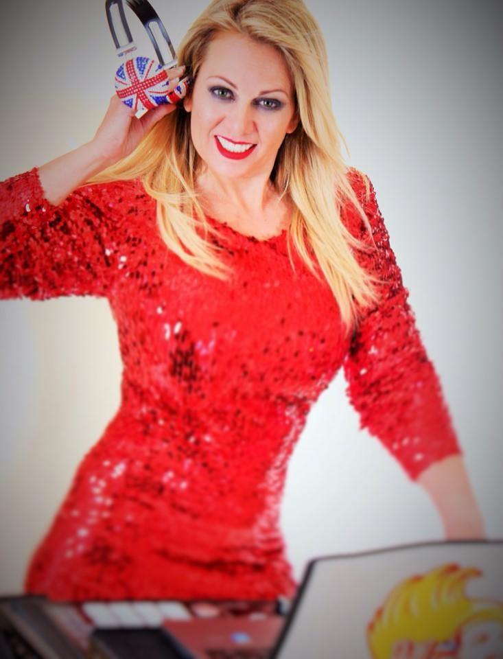 Red Sparkly dress DJ London